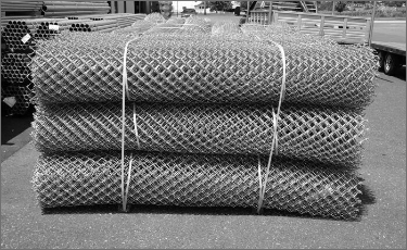 rolls of chain link wire